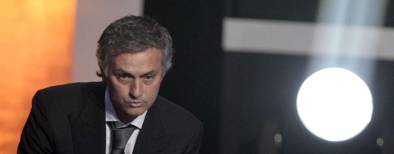 9. Portugal's soccer coach Jose Mourinho receives the FIFA Ballon d'Or, soccer coach of the year 2010, during a ceremony in Zurich, Switzerland, Monday, Jan. 10, 2011. He was the first man to receive the honor.