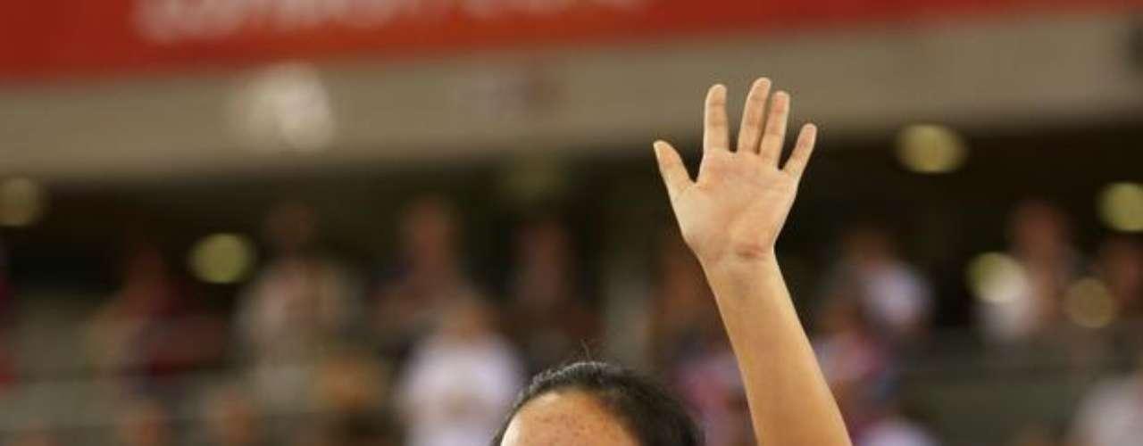 Más temprano, la ciclista china Sini Zeng ganó la medalla de oro en la categoría C1-2-3 femenina.
