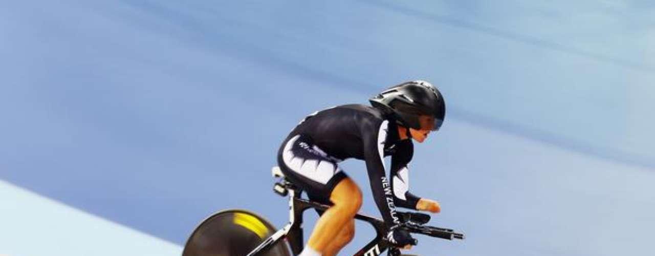 Fiona Southorn, de Nueva Zelanda, conquistó el bronce en la categoría C5 del ciclismo de pista.