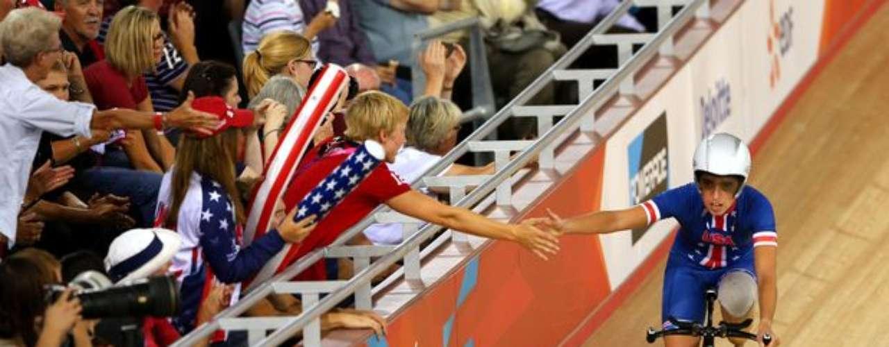 La estadounidense Megan Fisher se quedó con la medalla de plata en la categoría C4 del ciclismo de pista.
