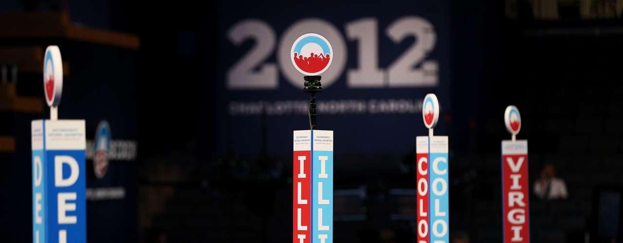 13- Delegados demócratas en Charlotte.