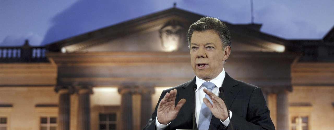 El presidente de Colombia,Juan Manuel Santos, resalta \
