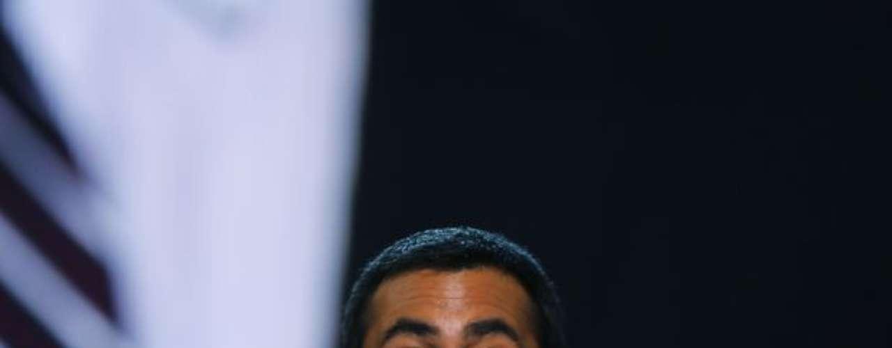 El actor cómico  Kal Penn se lució en el evento con un discurso lleno de bromas y críticas al Partido Republicano.