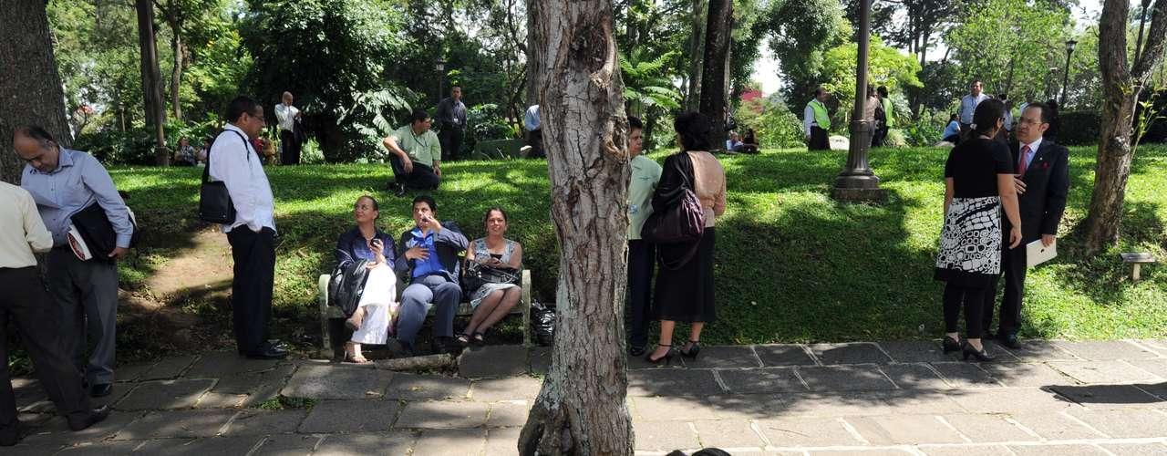 Los empleados del Congreso de Costa Rica en San José también han sido evacuados.