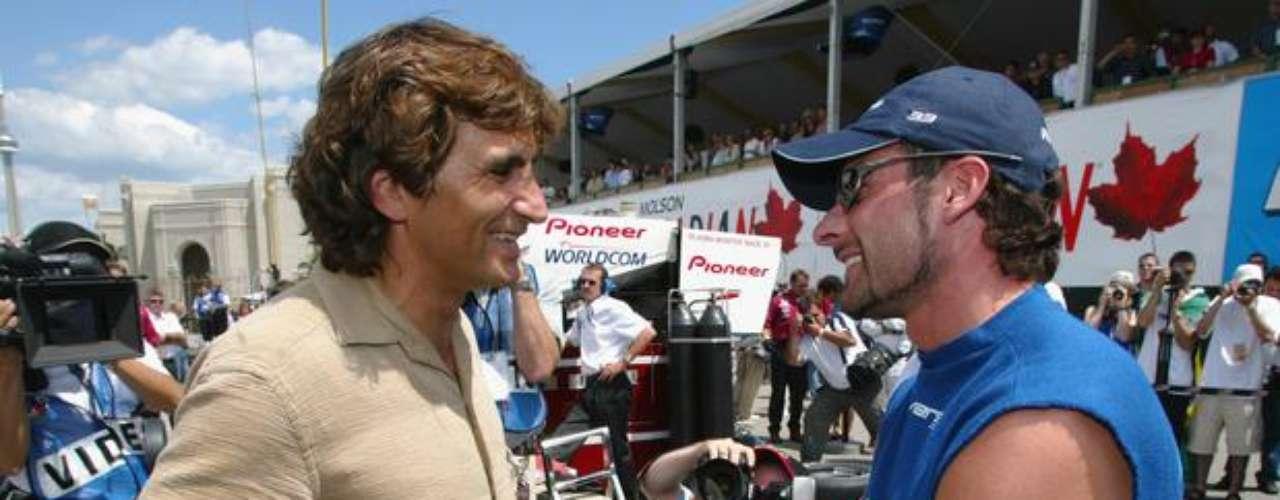 Ya fuera del hospital, en 2002, Zanardi se encontró nuevamente con el piloto canadiense Alex Tagliani, que estuvo involucrado en el accidente.