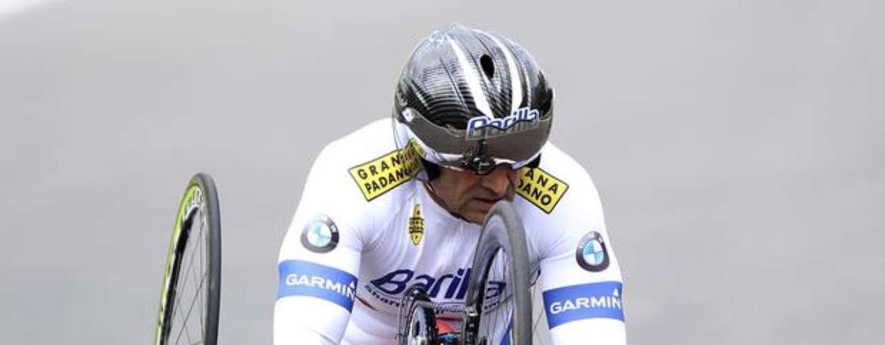El principal desafío de la carrera de Zanardi será conquistar una medalla de oro en los Paralímpicos de Londres, en ciclismo. El expiloto conoció la \