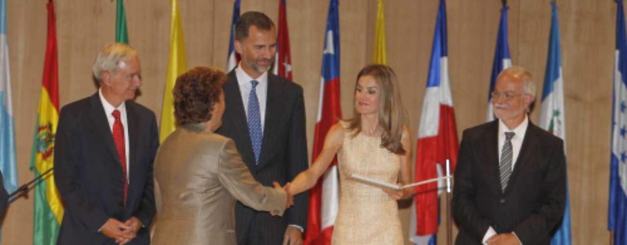 La princesa fue la encargada de entregar algunos de los galardones de este Congreso.