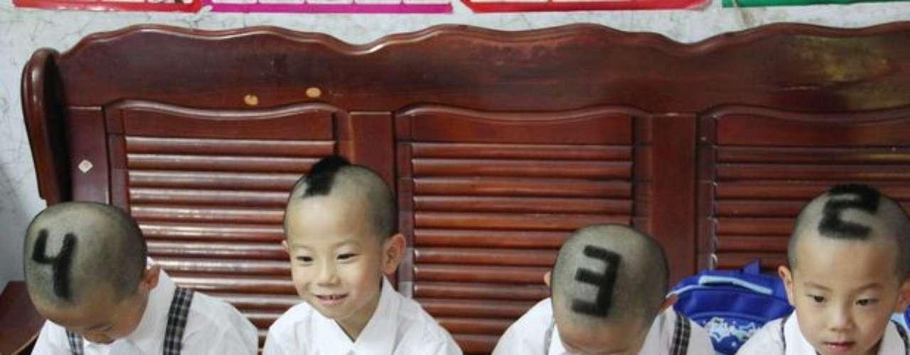 Es la primera vez que los niños de la provincia de Guangdong en el sur de China, van a la escuela.