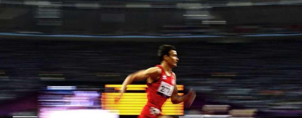 En esta imagen también se puede observar la velocidad del atleta durante la competencia.
