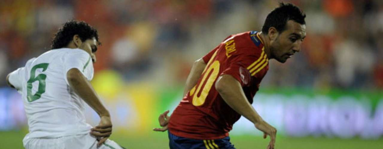 Santi Cazorla opened up the score for Spain in the 23rd minute.