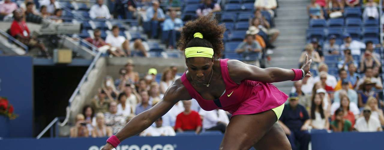 Serena Williams besides dominating in the serve has had great movement in the competition.