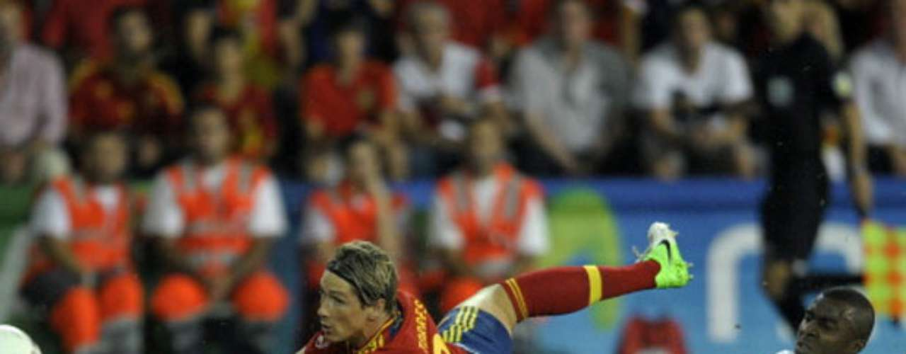 Fernando Torres entered in the second half for his 100th cap with the team.