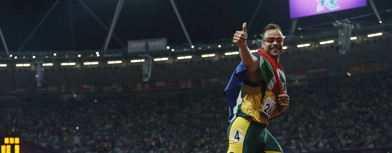 Pistorius was able to avenge his loss in the 200-meter final.