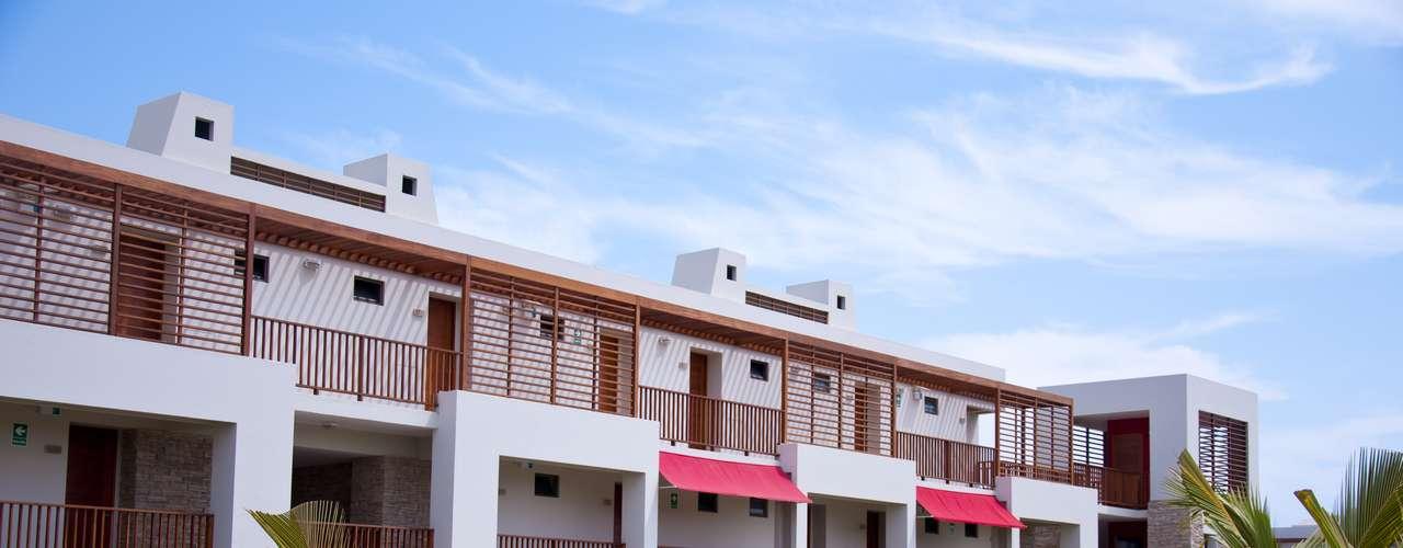 Todas las habitaciones tienen vista a la playa.