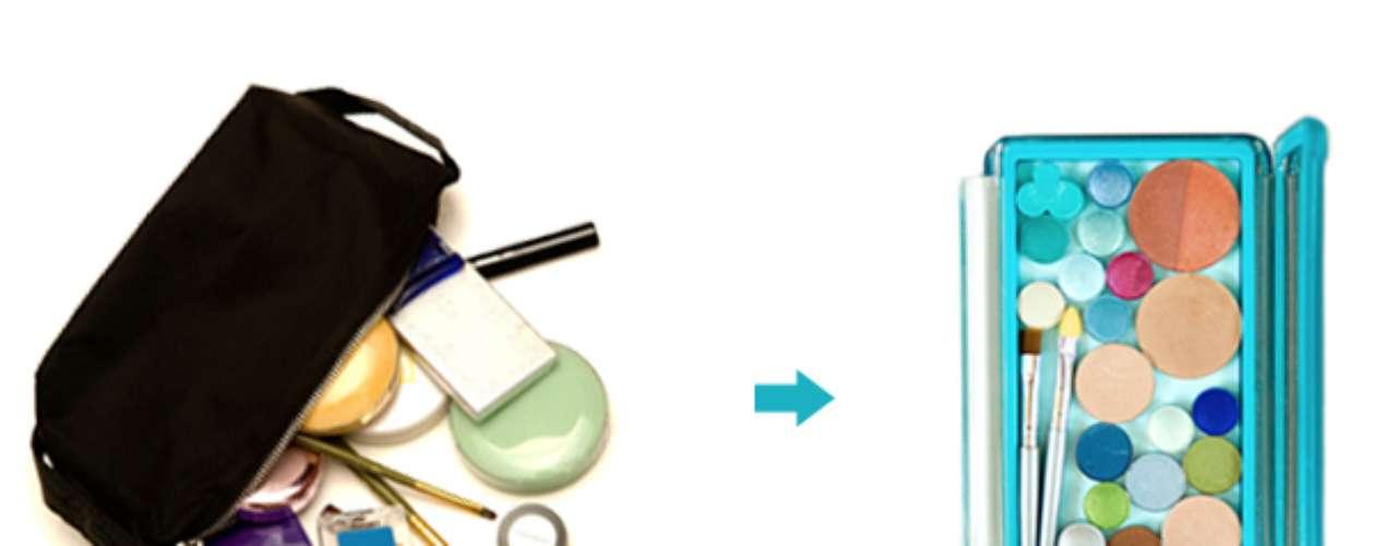 Organizá y cuidá tus maquillajes con un neceser magnético (se consigue en MAC).