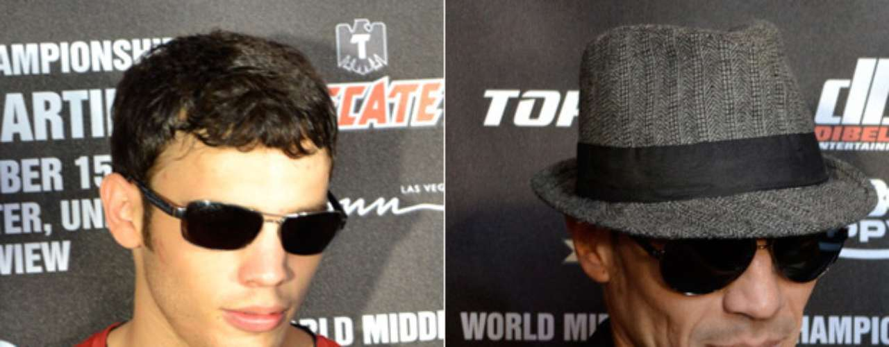 The boxers Julio César Chávez Jr. and Sergio 'Maravilla' Martínez met at the Wynn Hotel, when they arrived in Las Vegas for their fight Saturday, in a fight that 18,000 spectators will see at the Thomas & Mack Center.
