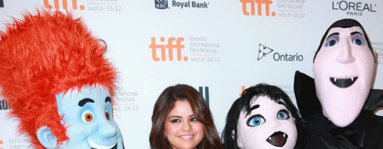 Selena Gomez looked beautiful and radiant at  the 'Hotel Transylvania' premiere during the 2012 Toronto International Film Festival on September 8, 2012 in Toronto, Canada. The actress/singer shared a tender moment with her \