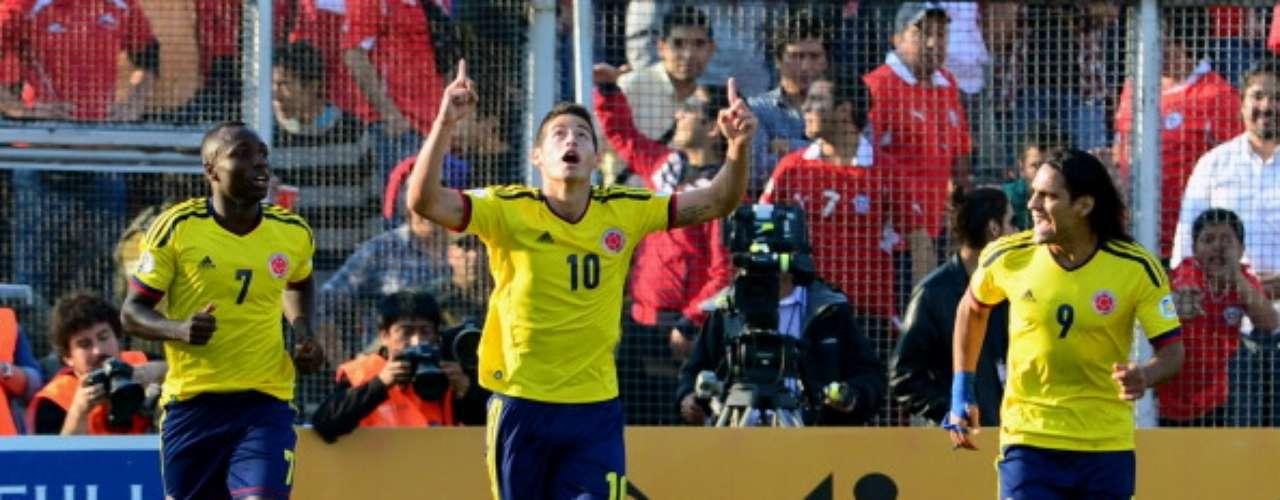 Falcao, James y Teófilo Gutiérrez marcaron para los cafeteros y ponen a soñar a los colombianos con volver a un Mundial de fútbol