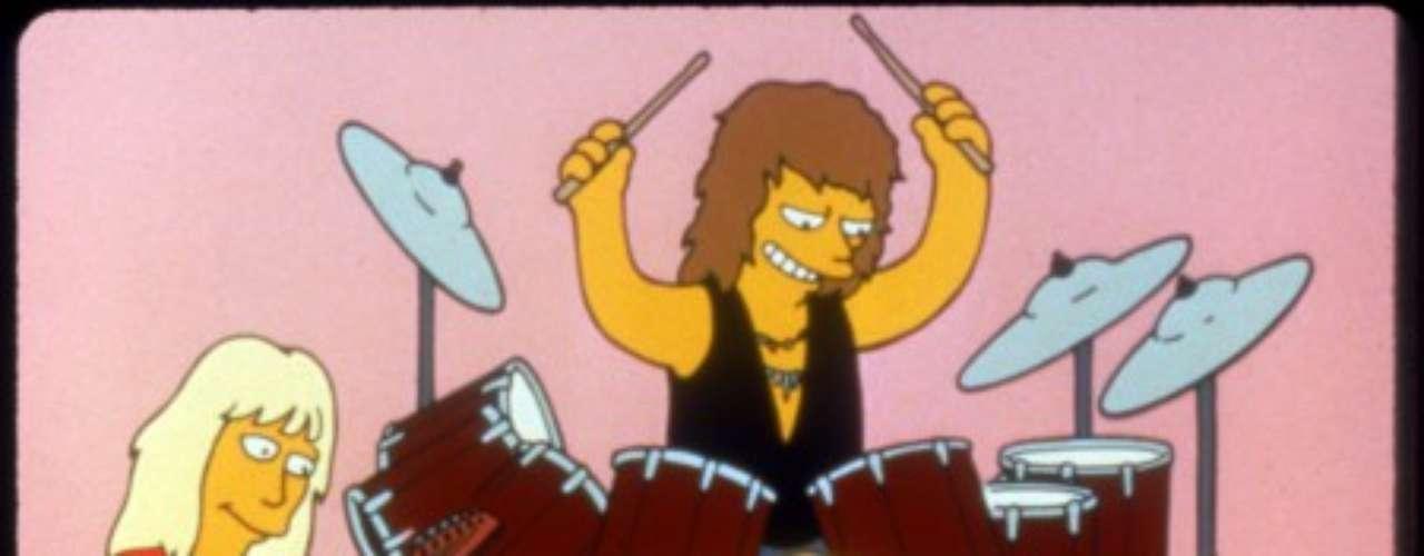 Aerosmith y su aparición animada en Los Simpson.