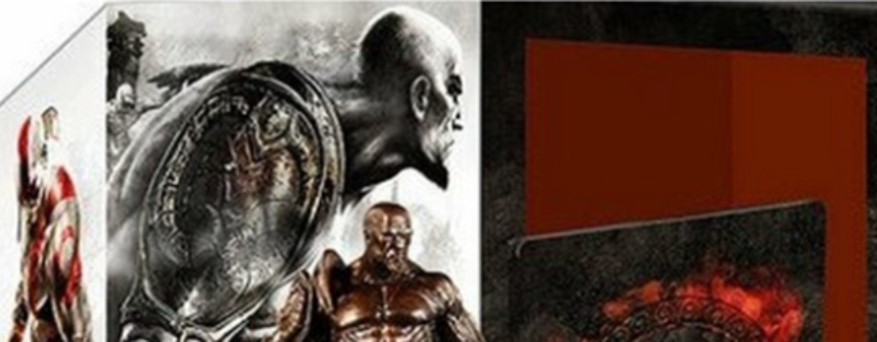 Este es el GOW Omega Collection para PS3. El combo trae todas ediciones de GOW 1 - GOW 2 - GOW Sparta - GOW Chains of Olympus  y GOW 3 PS3, todas para PS3. Además, una estatuilla de Kratos en una caja de colección.
