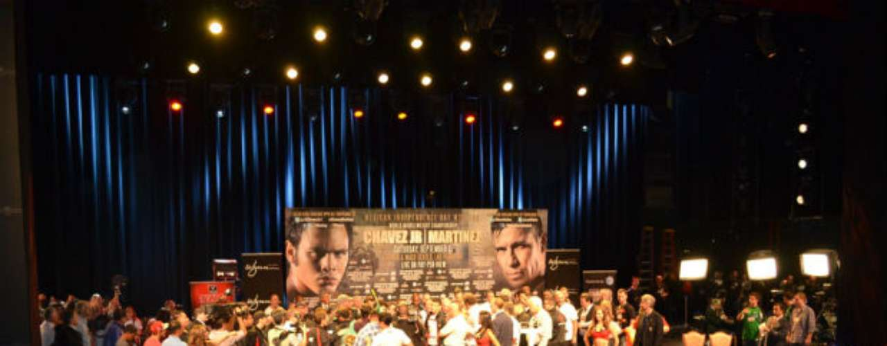 The weigh in was packed with fans of both the Argentine and the Mexican.