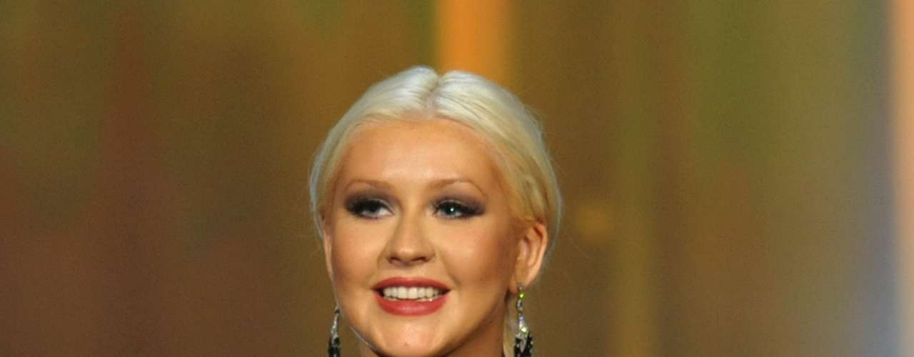A voluptuous Christina Aguilera accepted her award the special award for  \