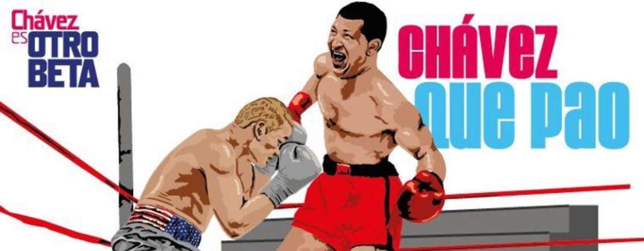 Chávez también se convierte en boxeador durante su campaña presidencial.