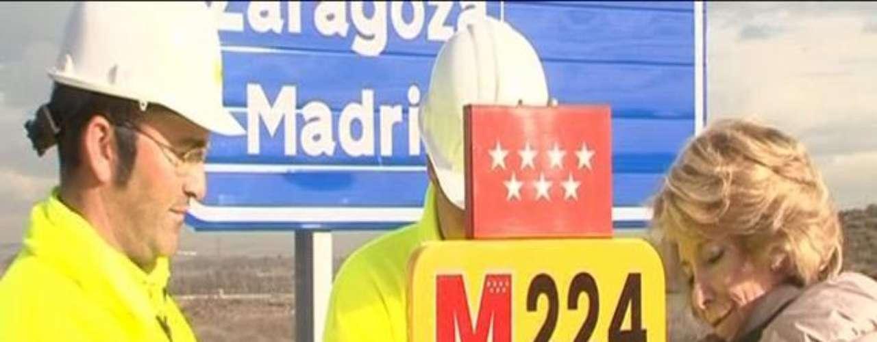 Esperanza Aguirre anunció que padecía un cáncer de mama durante una inauguración de una carretera el 21 de febrero de 2011
