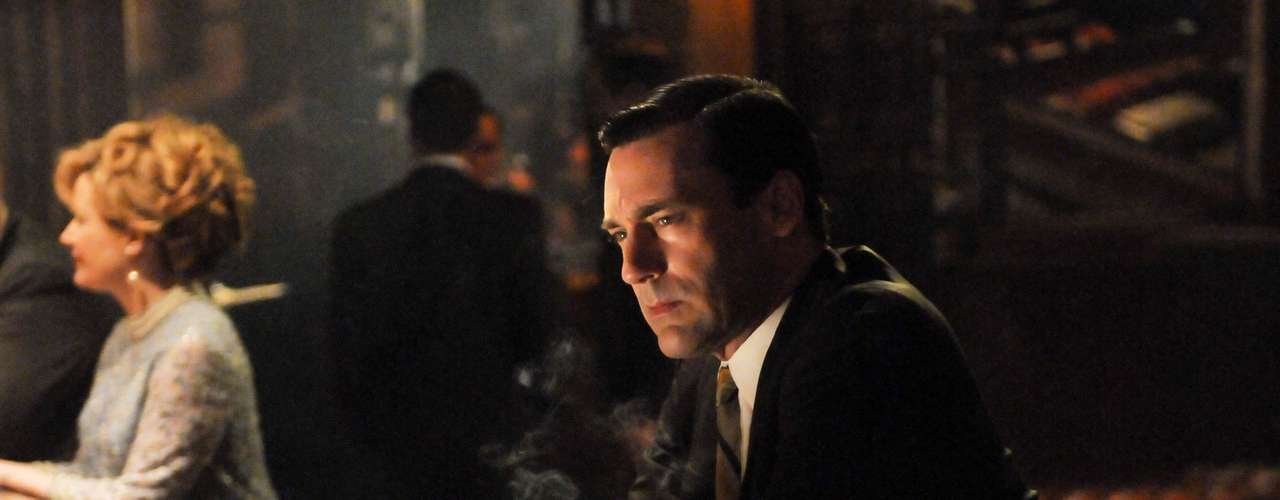 Jon Hamm has been nominated 5 times for an Emmy in the 'Outstanding Lead Actor in a Drama Series' category for his role on 'Mad Men.'  Unfortunately, he has yet to win.  Will he bring home the bacon this Sunday?