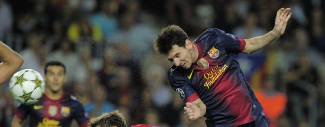 'The Atomic Flea' did the honors for his team as his header gave Barcelona a 3-2 win over Spartak Moscow. Lionel Messi scored a brace in the match.