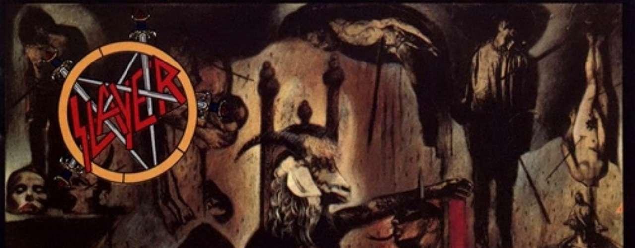 6. Slayer - 'Reign In Blood'. Tercer álbum de estudio del grupo de Huntington Park y su debut con una compañía discográfica internacional. Fue lanzado al mercado el 7 de octubre de 1986, el álbum significó la primera colaboración de la banda con el productor discográfico Rick Rubin, determinante en la evolución del sonido de la banda. Definitivamente, 1986 fue una año extraordinario para el metal; en marzo, Metallica lanzó 'Master of Puppets', y seis meses más tarde Slayer asomó con fuerza y se puso a la altura con 'Raining Blood'.