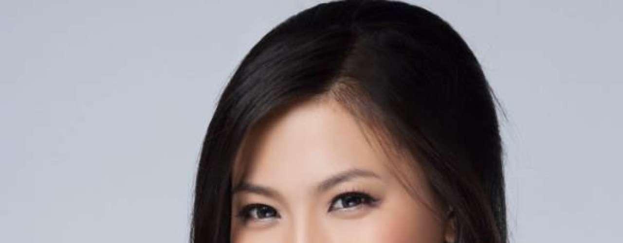 Miss China -Diana Xu. Procedente de Shangai nació en 1990. Mide 1.80 metros de estatura, su cabello es negro y sus ojos son de color marrón.