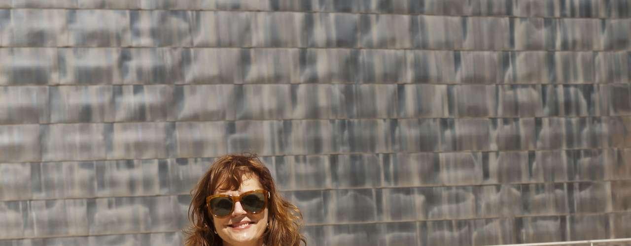 Susan Sarandón se desplazó hasta Bilbao para visitar la ciudad y el Museo Guggenheim.