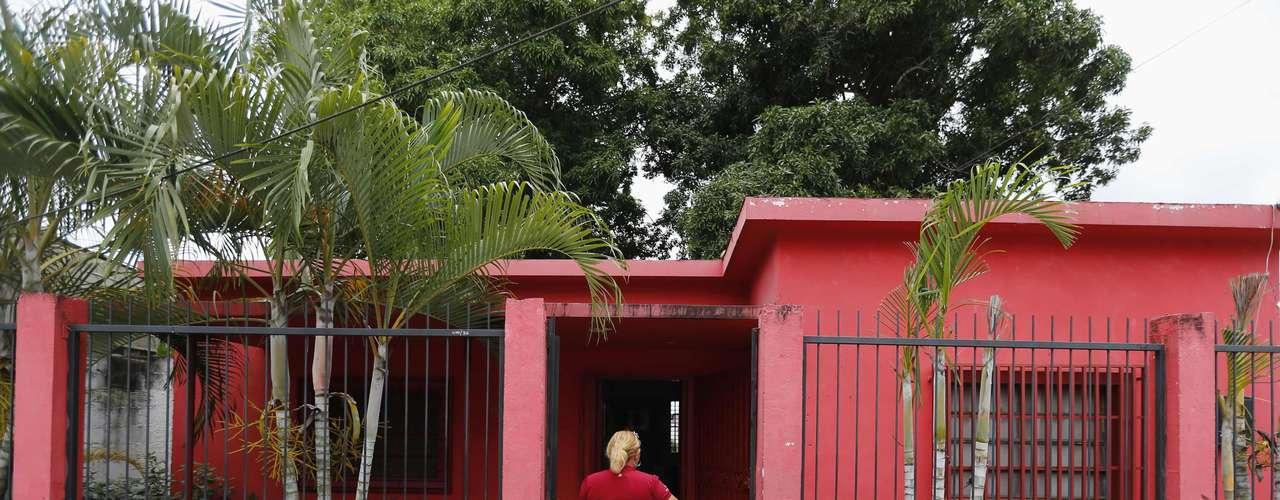 Esta es la antigua casa del presidente de Venezuela, Hugo Chávez, en Sabaneta, Barinas. Allí funciona una oficina del Partido Socialista Unido.