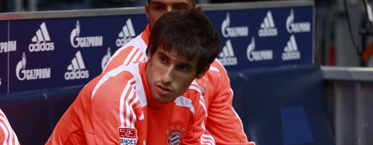 Bayern Munich's Javier Martinez sits on the bench before the game.
