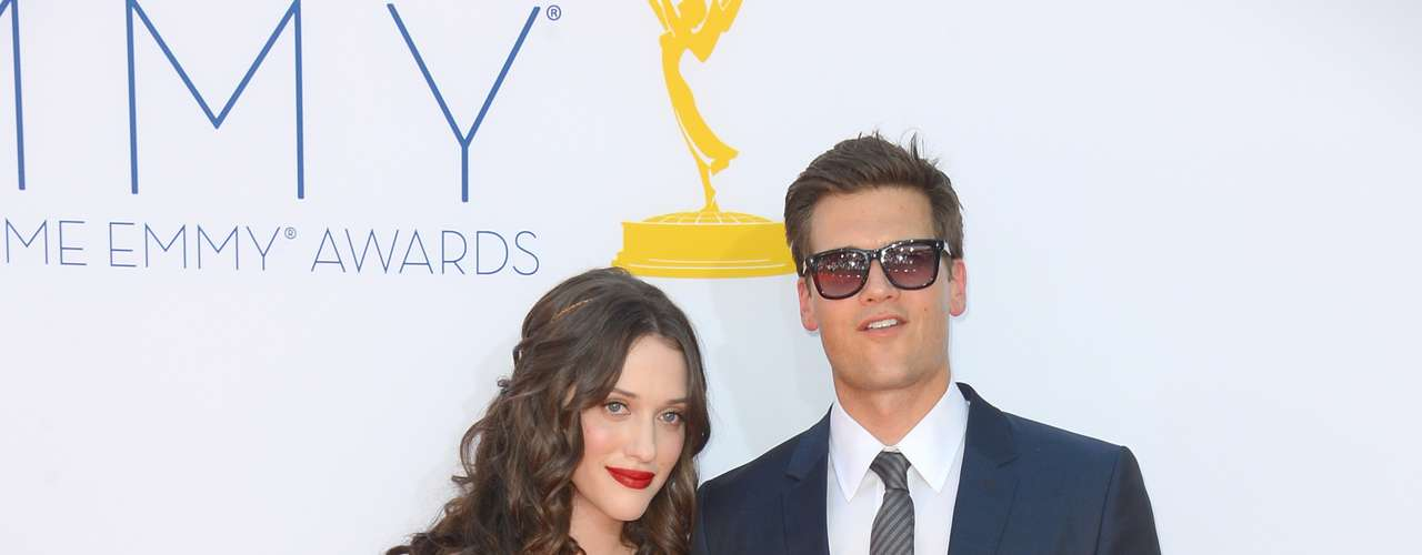 Kat Dennings and Nick Zano who both star on '2 Broke Girls.'