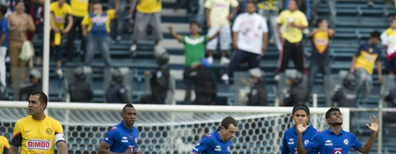 Maranhao, who played a intergral part in the Cruz Azul goal thanks the heavens.