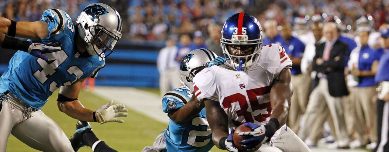 Andre Brown was more than just a fill-in for injured Ahmad Bradshaw, as he led the Giants with 113 yads on 20 carries and scored 2 TDs in New York's 36-7 win Thursday night. Brown scored 24 fantasy points in the win.