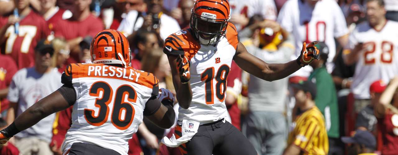 A.J. Green caught a career-high 9 passes for 183 yards and a TD to score 25 points in his team's 38-31 win over Washington.