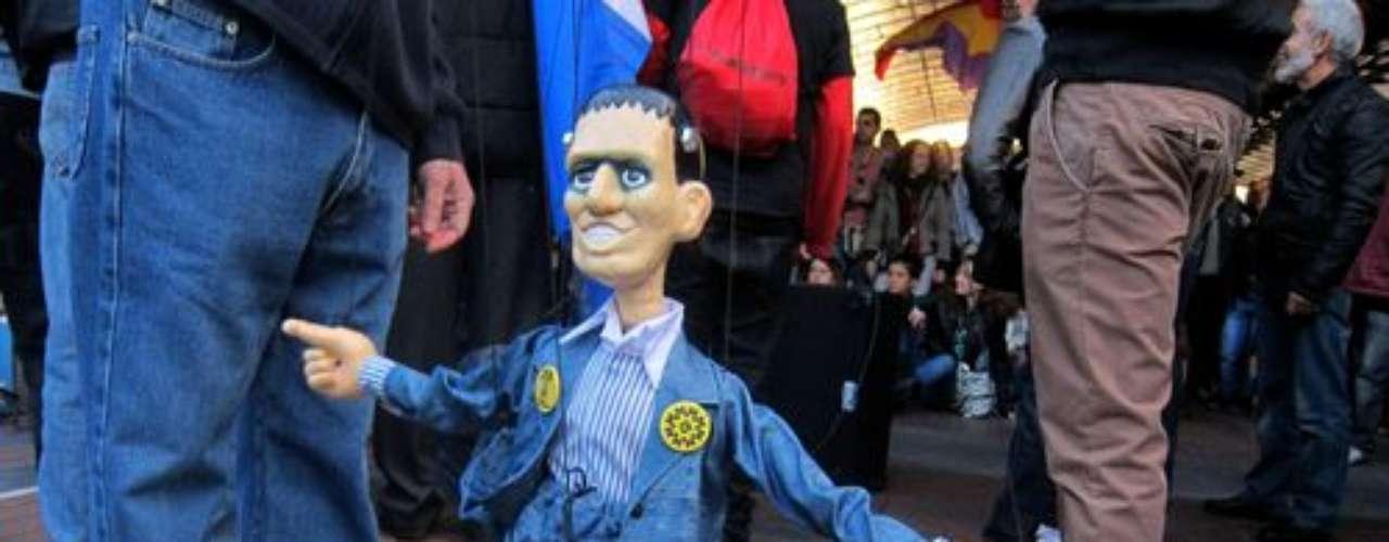 Detalle de una protesta en Valladolid, donde también se ha celebrado el #29S