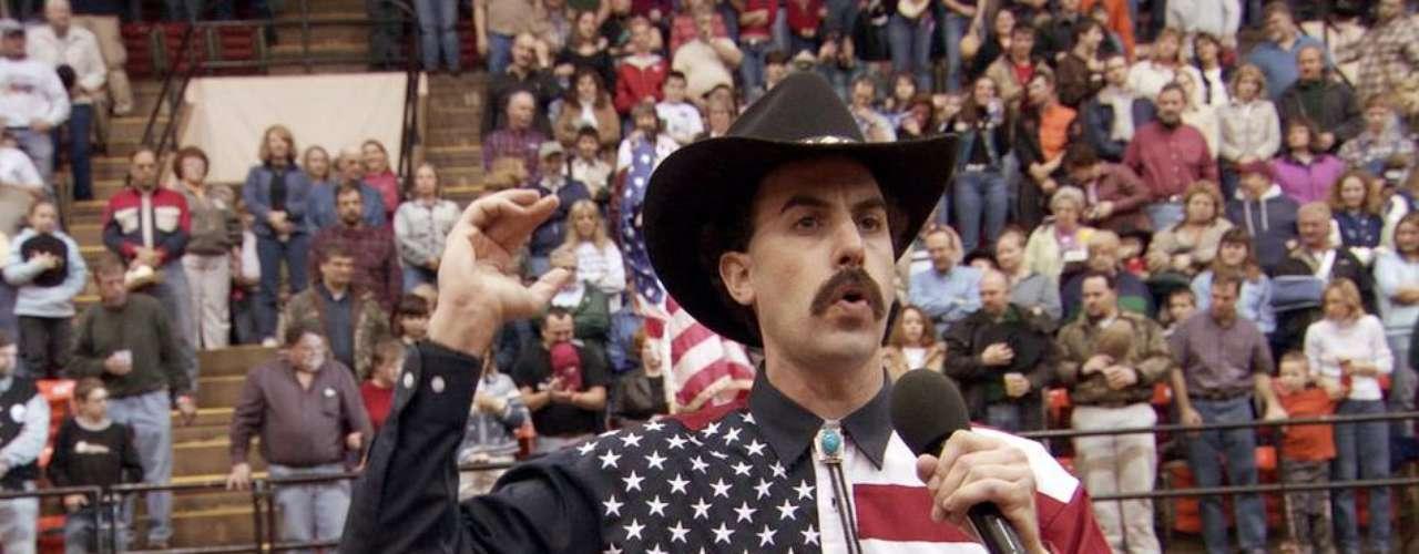 5. Borat: Un reportero de Kazajistán viaja a Estados Unidos para aprender más de su cultura. Admitimos que hay muchas situaciones que sí matan de risa pero hay otras que son muy desesperantes. La película causa 1.7 risas por minuto