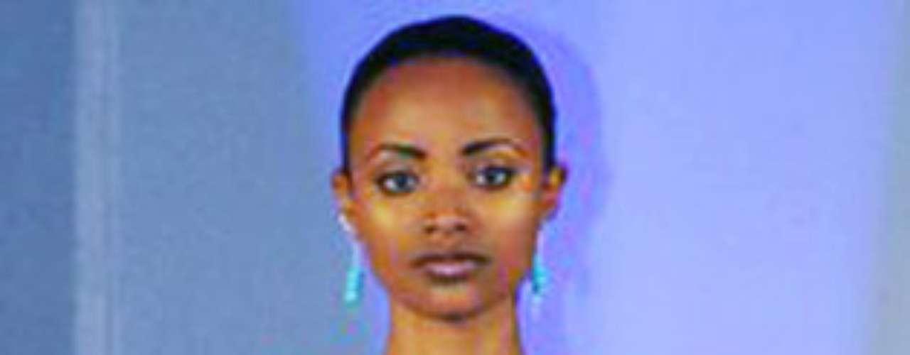 Miss Etiopía - Melkam Endale. Tiene 21 años de edad y mide 1,73 metros de estatura.