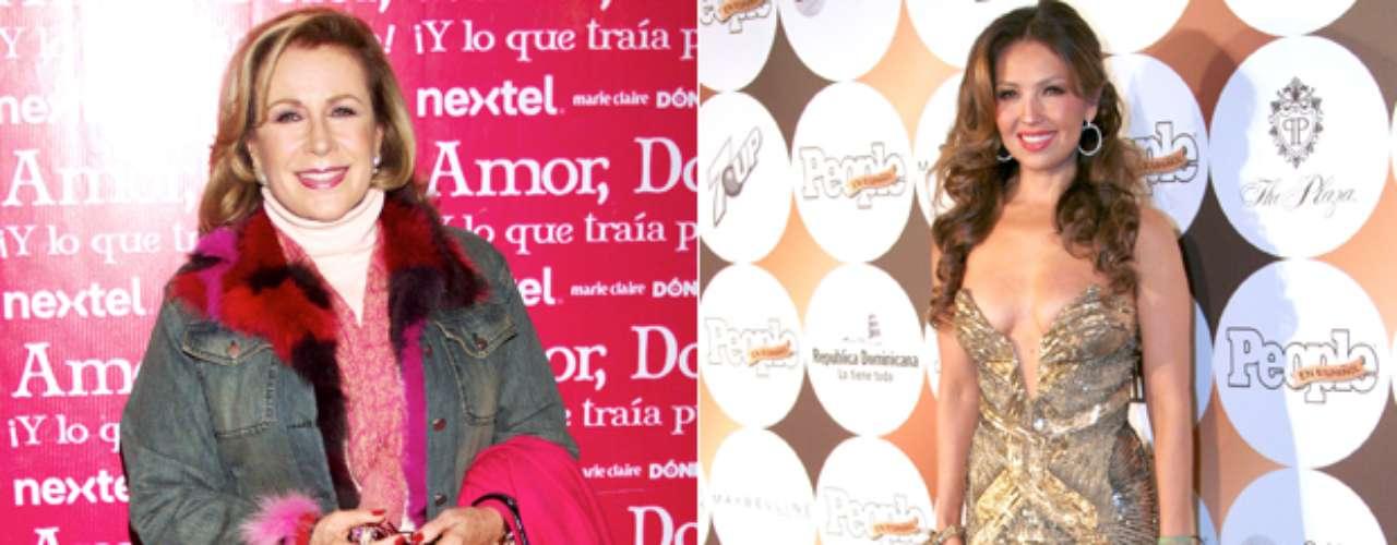 Laura Zapata peleó con Thalía cuando su abuela estuvo en el hospital y la cantante pidió dejaran entrar a sus hermanas a visitar a doña Eva Mange. Las