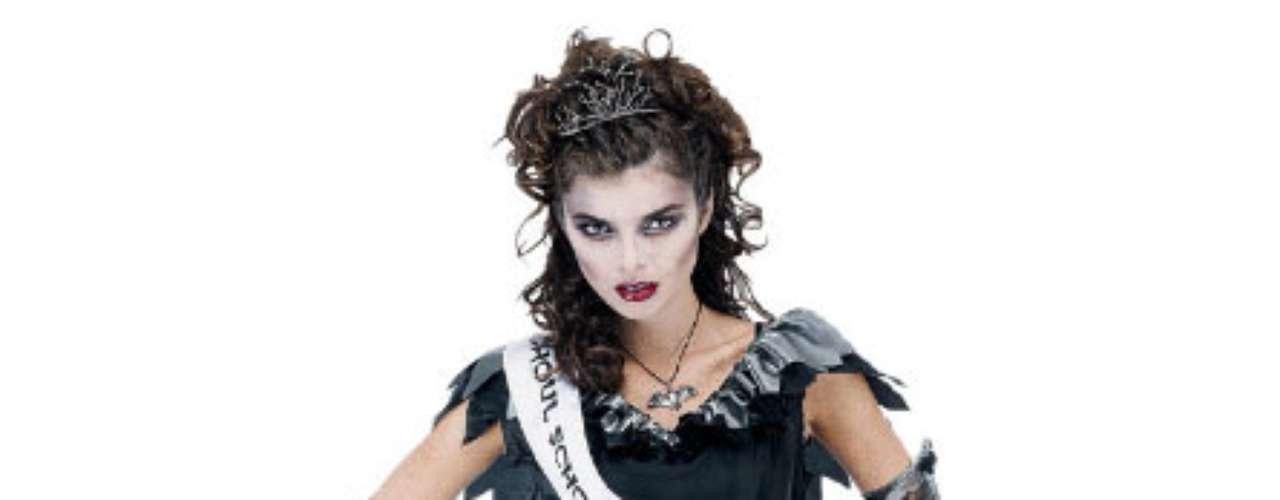 La reina de los Zombies! Algunas chicas  matarían por serlo. Con este traje seguro  logran su corona y a seducir!