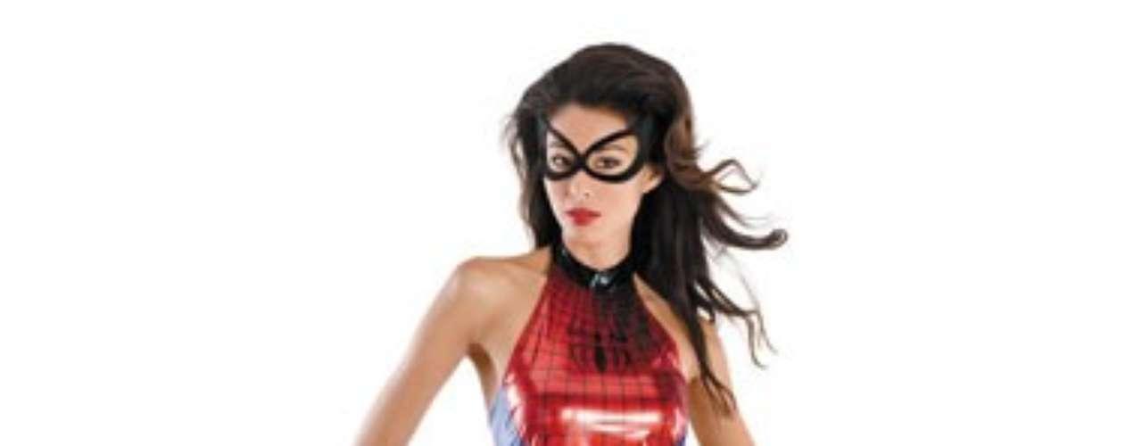 Un  traje sexy de Spidergirl con swing para salvar a los buenos y desterrar a los malos! Se trata de un superhéroe  que puede escalar paredes y saltar por el aire