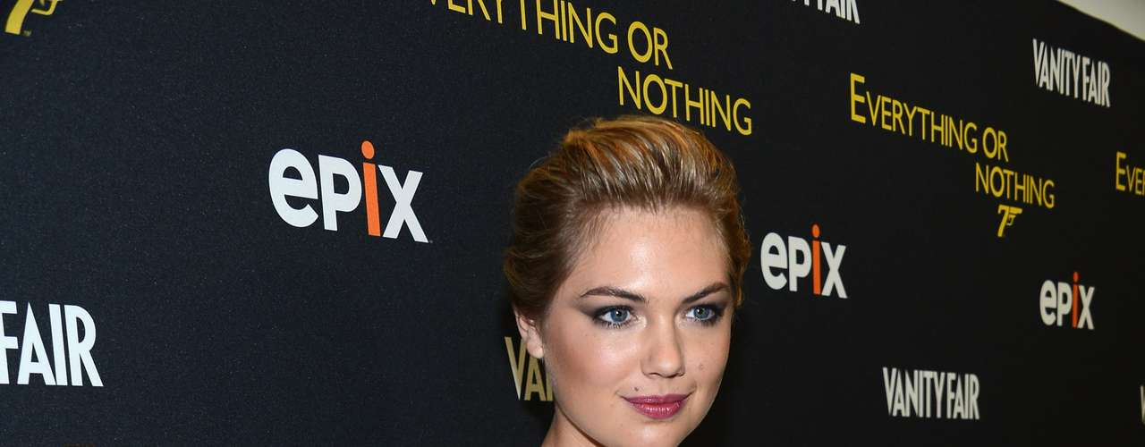Kate Upton wore a see-through top to the premiere of 'Everything or Nothing: The Untold Story of 007' at MOMA in NYC. What do you think of Kate's style?