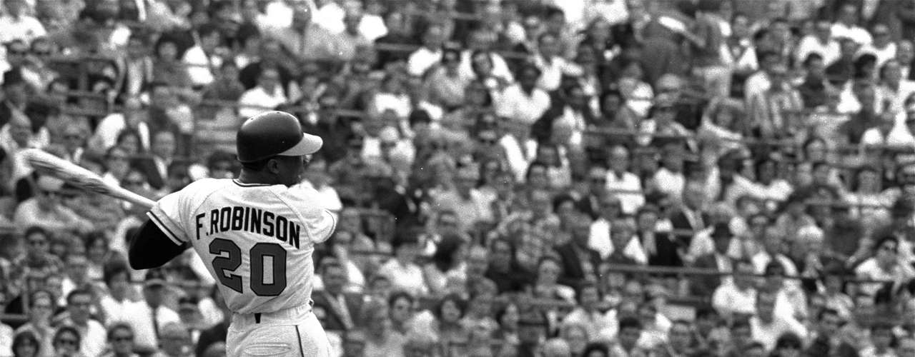 Frank Robinson won the Triple Crown in his very first year in the American League in 1966 with the Baltimore Orioles, leading the AL with a .316 average, 49 HR and 122 RBI.