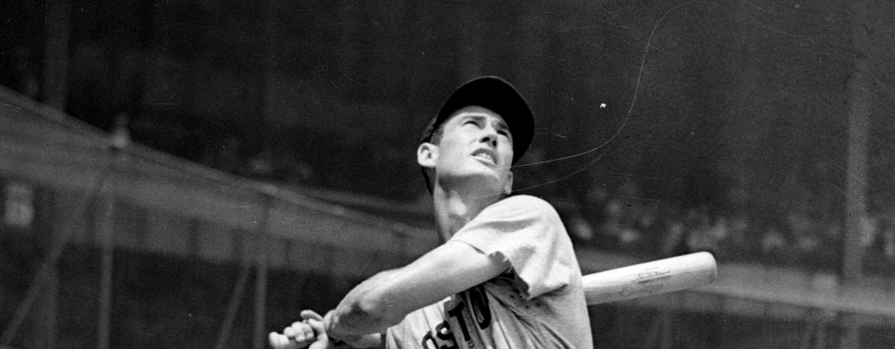 Ted Williams is the last man to win the Triple Crown twice, achieving the feat in 1942 and again in 1947. The 'Splendid Splinter' led the American League with a .356 average, 36 HR and 137 RBI in '42, and in '47 he batted .343 with 32 HR and 114 RBI.