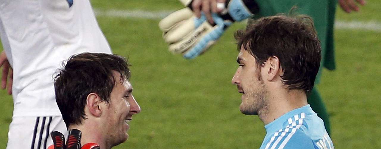 Finally, there was the friendship at the end of the Clasico, as goalkeeper Iker Casillas and Messi showed their huma sides after the contest was over.