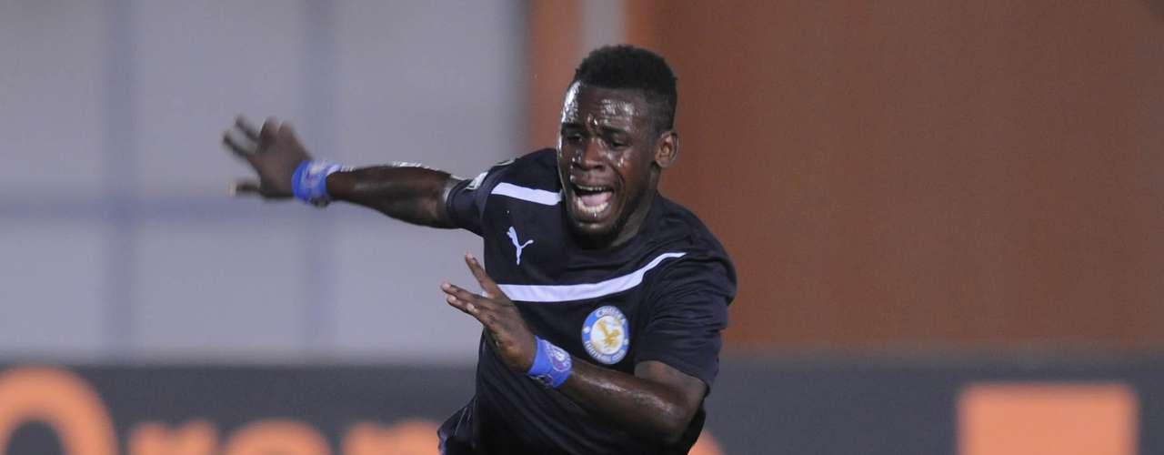 Aún sin marcar por la selección ganesa, Emmanuel Clottey conquistó la novena posición, anotando 12 goles con El Berekum Chelsea de su país.